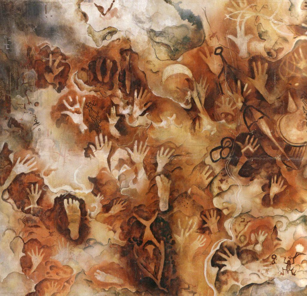 Felsbilder (Westpapua):Hand- und Fussspuren