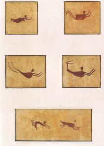 Felsbilder.Schwimmer oder Trance.Westägypten